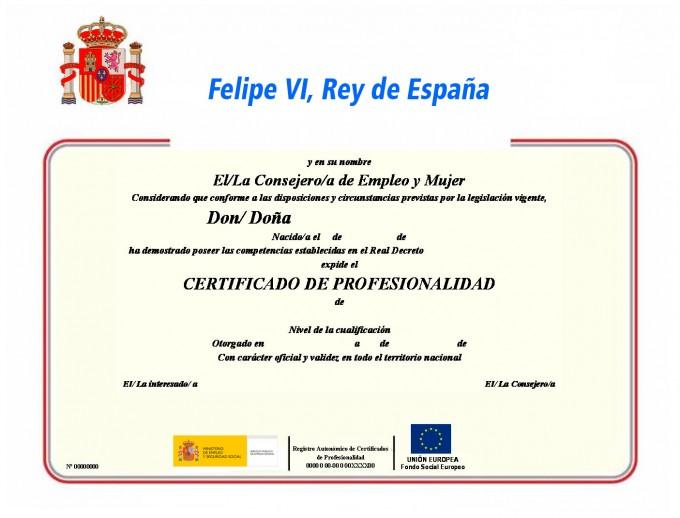 Certificado de profesionalidad